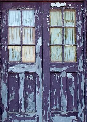 Blue Doors Original by John Adams