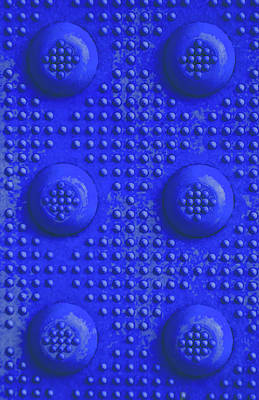 Photograph - Blue Dots Industrial Portrait by Tony Grider