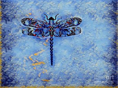 Photograph - Blue Dragonfly by Deniece Platt