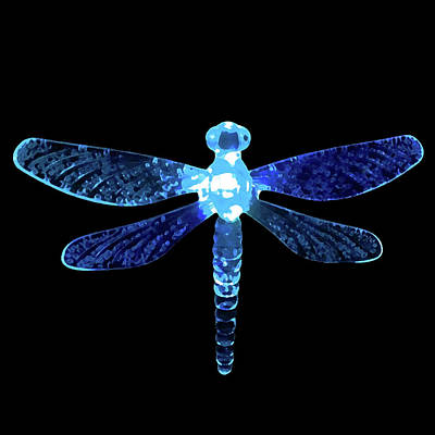 Digital Art - Blue Dragonfly by Sarah Jean