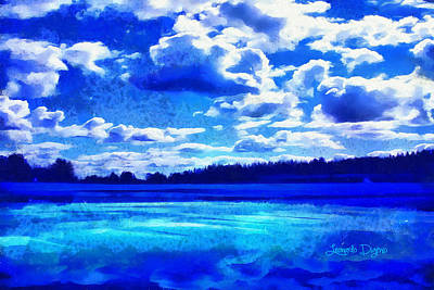 Solitude Digital Art - Blue Dream - Da by Leonardo Digenio