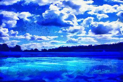 Cloudscape Painting - Blue Dream by Leonardo Digenio