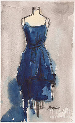 Prussian Blue Painting - Blue Dress II by Lauren Maurer