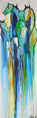 Painting - Blue Drip 2 by Cher Devereaux