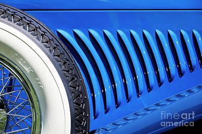 Photograph - Blue Duesenberg by Dennis Hedberg