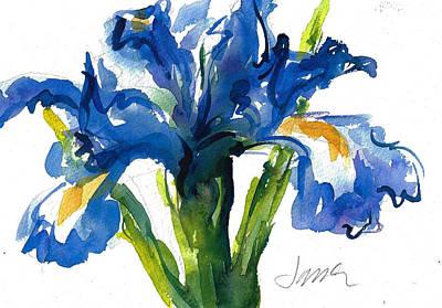 Blue Dutch Iris For Kappa Kappa Gamma Art Print
