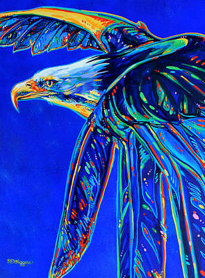 American Eagle Painting - Blue Eagle by Derrick Higgins