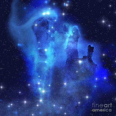 Blue Eagle Nebula Art Print