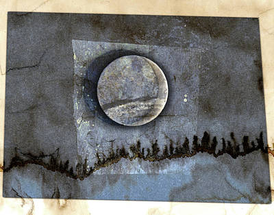 Solar Eclipse Mixed Media - Blue Eclipse by Carol Leigh