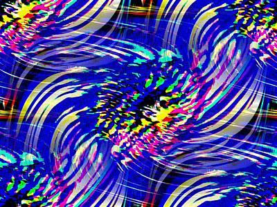 Absract Digital Art - Blue Eddy by Tim Allen