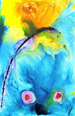Blue Edge Rising Art Print by James Draper