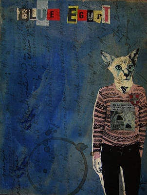 Blue Egypt Art Print by Adam Kissel