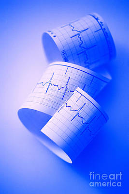 Photograph - Blue Ekg by George Mattei