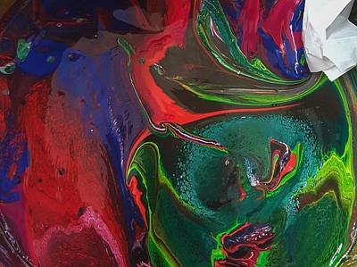 Painting - Blue Elephant Exclamation Point Twist by Gyula Julian Lovas