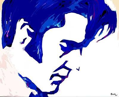 Painting - Blue Elvis 1 by Robert Margetts