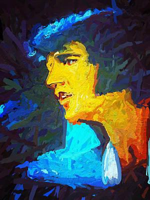 Blue Elvis Art Print