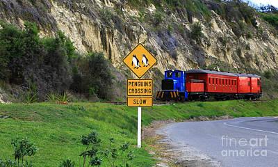 Photograph - Blue Engine Yellow Sign by Nareeta Martin