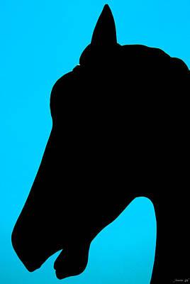 Blue Equus Art Print