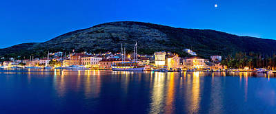 Photograph - Blue Evening In Vis Town Panoramic by Brch Photography