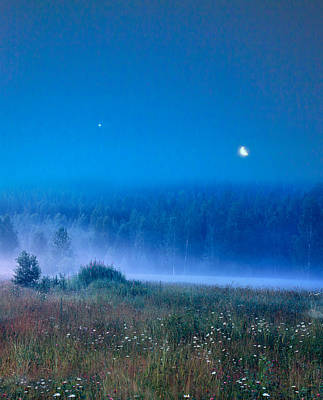 Art Print featuring the photograph Blue Evening by Vladimir Kholostykh