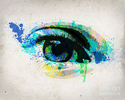 Pop Art Royalty-Free and Rights-Managed Images - Blue eye 8x10 by Delphimages Photo Creations