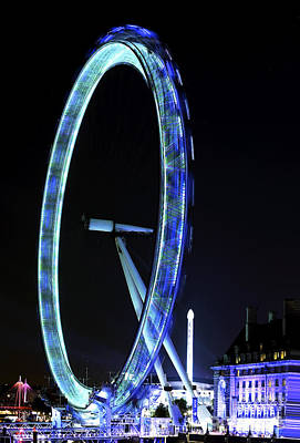 Blue Eye In London Art Print by John Rizzuto
