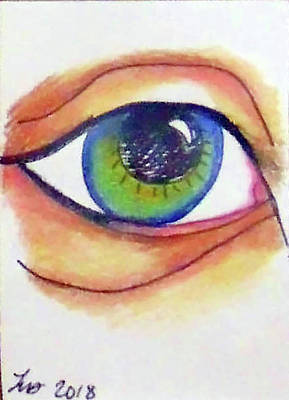 Drawing - Blue Eye by Loretta Nash