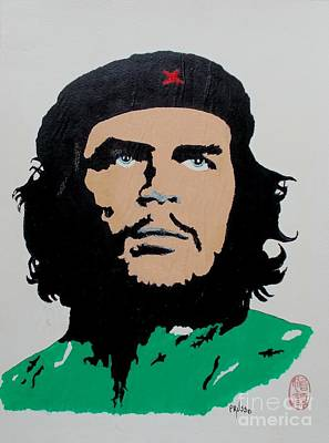 Painting - Blue Eyed Che by Pg Reproductions