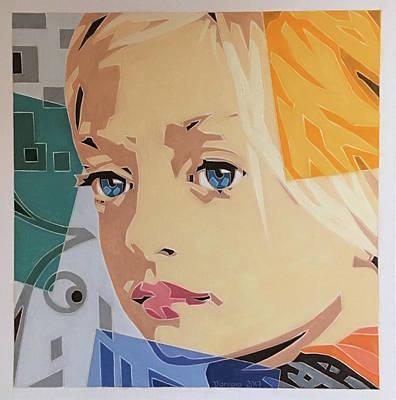 Painting - Blue Eyed Girl by Varvara Stylidou