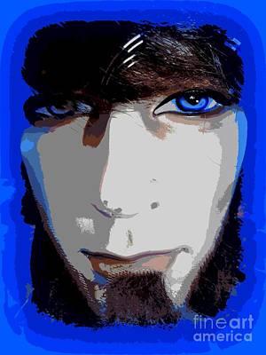 Digital Art - Blue Eyed Hipster by Ed Weidman
