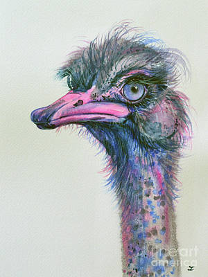 Blue-eyed Ostrich Original