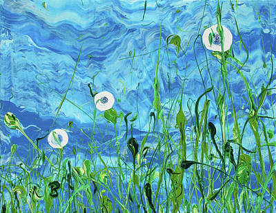 Painting - Blue-eyed Susans by Ric Bascobert