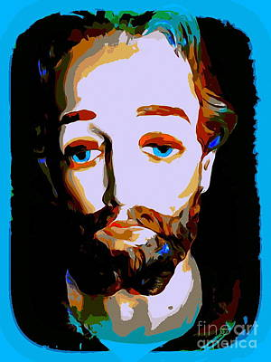 Digital Art - Blue Eyed Wise Man by Ed Weidman