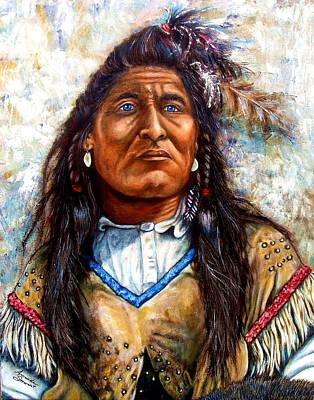 Navaho Painting - Blue Eyes by Amanda Hukill