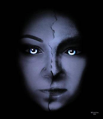 Digital Art - Blue Eyes by Artful Oasis