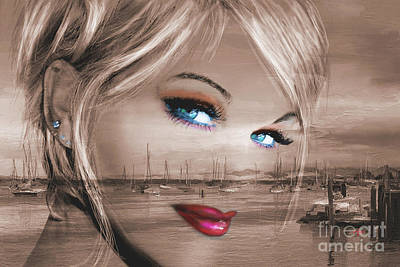 Portrait Painting - Blue Eyes Bay by Angie Braun