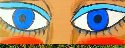 Women Soccer Painting - Blue Eyes by Charles  Jennison