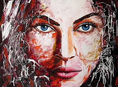 Painting - Blue Eyes by Ludo Sevcik