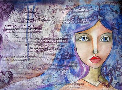 Drawing - Blue Eyes by Riana Van Staden