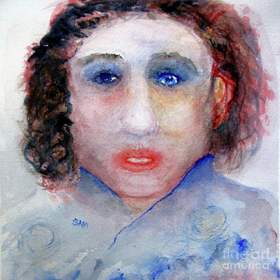 Painting - Blue Eyes by Sandy McIntire