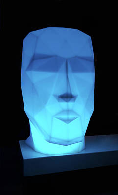 Statue Portrait Photograph - Blue Face by Art Spectrum
