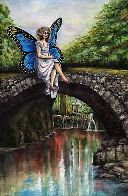 Painting - Blue Fairy by Don Whitson