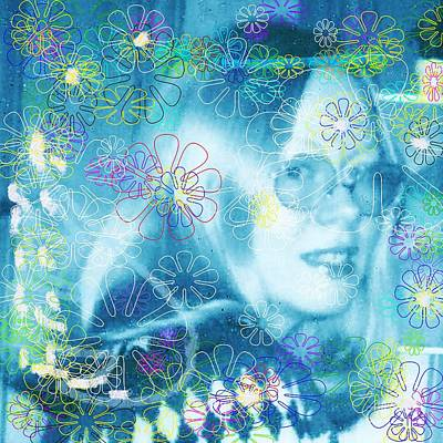 Mixed Media - Blue Fairy Dream by Denise F Fulmer