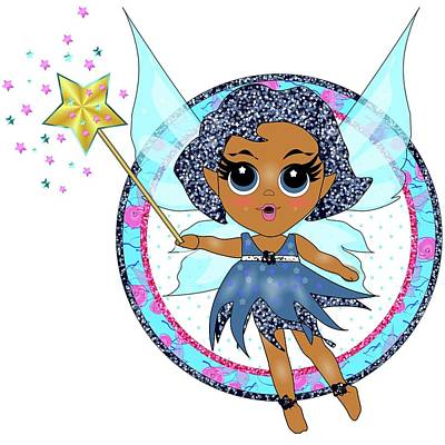 Digital Art - Blue Fairy by Heidi Kriel