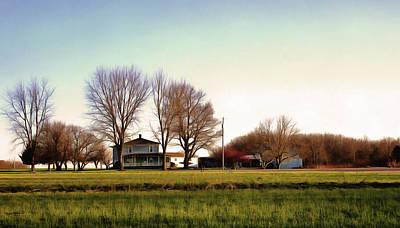 Photograph - Blue Farmhouse by Spyder Webb