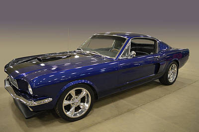 Photograph - Blue Fastback by Bill Dutting