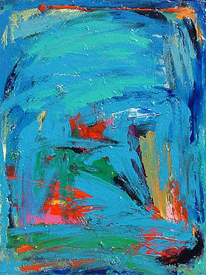 Painting - Blue Field Study by Banning Lary