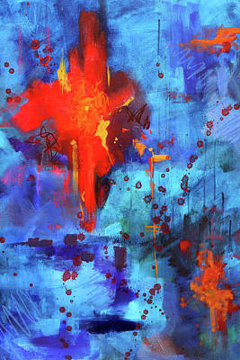 Painting - Blue Fire by Nancy Merkle