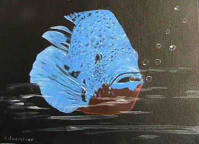 Painting - Blue Fish by Catherine Swerediuk