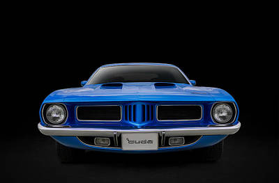 Plymouth Cuda Digital Art - Blue Fish by Douglas Pittman